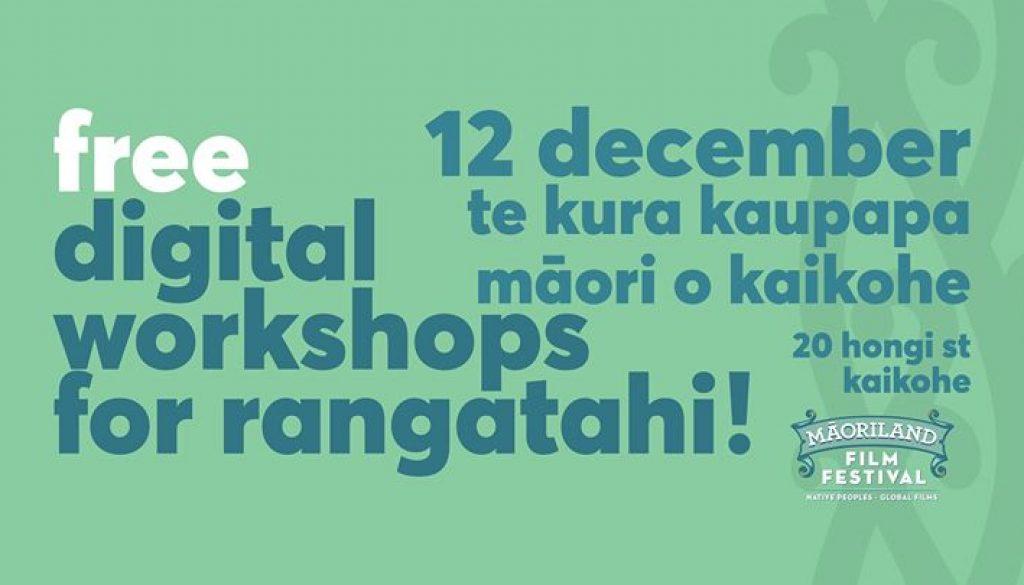 Kaikohe - Digital Tech Workshop For Rangatahi!